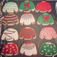 Ugly sweater Christmas party sugar cookies