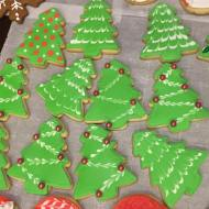 Fun and funky Christmas tree cookies