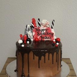 Chocolate and candy birthdya cake