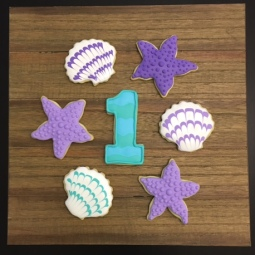 Under the sea themed cookies for a first birthday party