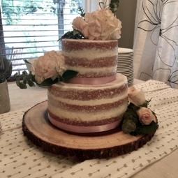 Semi naked bridal shower cake