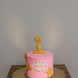 Twinkle Twinkle Little Star themed smash cake
