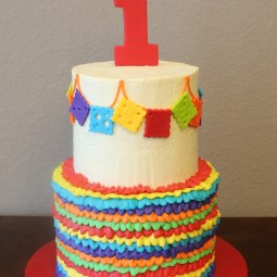Cinco de Mayo birthday cake for a first birthday party