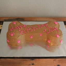 Massive dog friendly bone cake for a sweet lab named Lilly!