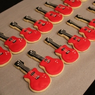 Guitar cookies for a rockin birthday party!