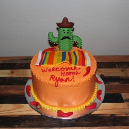 Fiesta themed welcome home party for a dedicated Airman! Thank you for your service Ryan!
