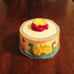 Fiesta themed baby shower cake