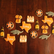 Texas themed cookies