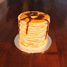 Stack of pancakes for a smash cake! Love!