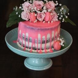 Sweet baby shower semi naked cake