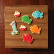 """""""The Big One"""" - 1st birthday cookies!"""