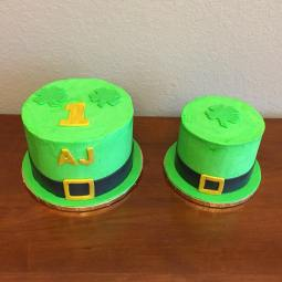 St. Patrick's Day cake and smash cake for a lucky 1 year old!
