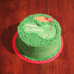 Golf themed birthday cake for the best dad ever!