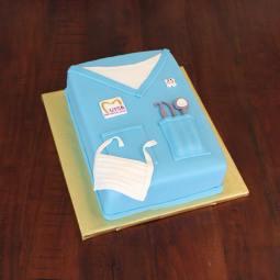 Dental Scrub cake for UTSA Pre-Dental Society Graduation