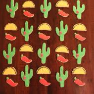 Cinco De Mayo themed - cactus, pepper, taco