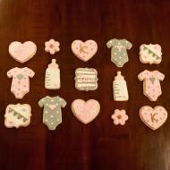 Sweet baby shower cookies for little Kora