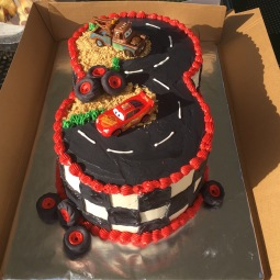 Cars 3 Themed 3rd birthday cake!