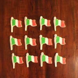 Italian flag cookies