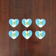 Guatemalan flag and heart cookies for a beautiful country close to my heart!