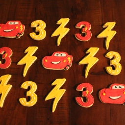 Cars 3 themed birthday cookies