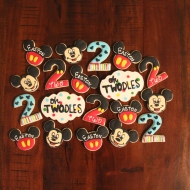 """Mickey Mouse """"TWOdles"""" birthday cookies!"""