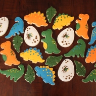 Dinosaur cookies for a 2nd birthday party!