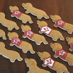 Aggie dachshund cookies for a 31st birthday