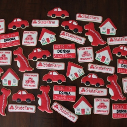State Farm cookies for a great relocation in San Antonio!