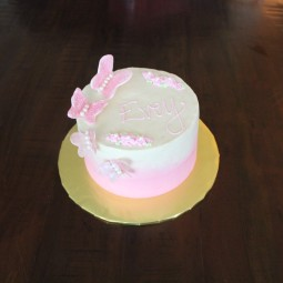 1st birthday butterfly cake