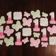 1st birthday butterfly themed cookies