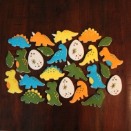 Dino themed 2nd birthday cookies